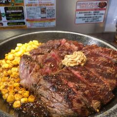 いきなり/ステーキ/グルメ/フード お昼から食べ過ぎました😵