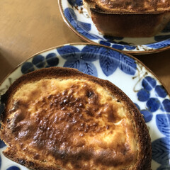 家事やろう/朝食 今日の朝食 バスクチーズケーキ風トースト…