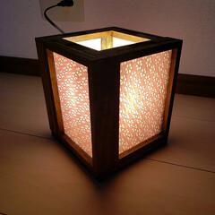 行灯風ライト/行灯/セリア/100均/DIY 両面フォトフレームを使って、行灯風ライト…