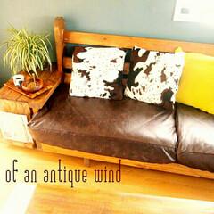 ソファー/DIY/ツーバイフォー/すのこ/ソファ 2×4材でソファーと サイドテーブル