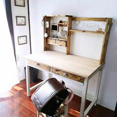 勉強机/子供部屋/キッズルーム/DIY  二年前の作品 娘の勉強机