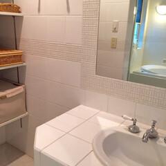 ソープディッシュ/メイクルーム/洗面所大公開/洗面道具/洗面所は綺麗に使おう オープンな棚に、タオル入れの布BOXとド…