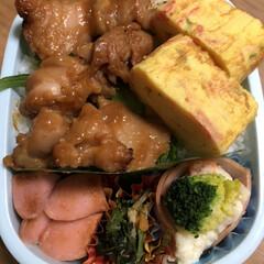 ポテトサラダ🥗/ほうれん草のおひたし/魚肉ソーセージ/ねぎカニカマ卵焼き/焼き鳥 今日のお弁当🍱