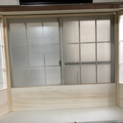 内窓DIY/DIY/インテリア/住まい/はじめてフォト投稿 プラダンを使って 内窓をDIYしました。…