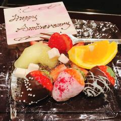ホテル椿山荘東京/LIMIAおでかけ部/フォロー大歓迎/わたしのごはん/おでかけ/グルメ/... 結婚式からちょうど一年の日に式場のアニバ…(1枚目)