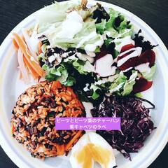 ビーツ好き/ビーツレシピ/夏野菜/ランチ/簡単/おしゃれ/... 夏野菜で簡単ランチ^_^ 大好きなビーツ…