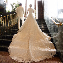初めて投稿/ウェディングドレス/結婚式/2018/ファッション 2018年一番の思い出は結婚式^_^ こ…