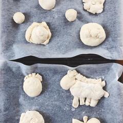 手づくりパン/リミアな暮らし 6歳の息子が初めて作ったパンです!中身は…