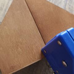 セリア/ペンケース/文房具収納/収納/簡単/DIY/... 100均DIY。 木製デスクラックでペン…(3枚目)