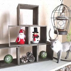簡単リメイク/ディスプレイボックス/クリスマスツリー型/インテリアキューブディスプレイボックス/100均リメイク/クリスマス雑貨/... 小さなお子さんがいるママ友 今年はツリー…