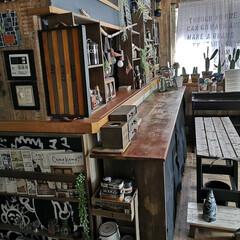 男前インテリア/リビング/カウンター/私のお気に入りの場所/DIY/雑貨/... 休み明けはリセットされているカウンター。…