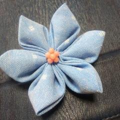 畳縁バッグ/つまみ細工/プレゼント/リース/マスク/Handmade こんばんは🎵 数日ぶりです。 部署の移動…(9枚目)