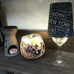 ワイングラスランプ/ランプ/クリスマス こんばんは🎵 先ほど帰宅後まもなく こぐ…