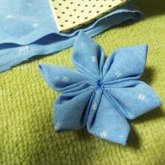 畳縁バッグ/つまみ細工/プレゼント/リース/マスク/Handmade こんばんは🎵 数日ぶりです。 部署の移動…(8枚目)