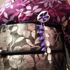 畳縁バッグ/つまみ細工/プレゼント/リース/マスク/Handmade こんばんは🎵 数日ぶりです。 部署の移動…(6枚目)