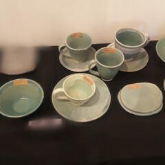 なごみ/ハンドメイド/陶器/陶芸/うつわ展 毎年恒例になってる カフェでのうつわ展搬…(4枚目)