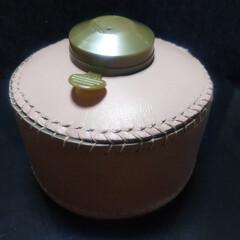 リトルランプ ノクターン(GL-140)   Snow Peak(ガスランタン)を使ったクチコミ「こんばんは🍀 革細工2作目  OD缶カバ…」(1枚目)