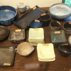 なごみ/ハンドメイド/陶器/陶芸/うつわ展 毎年恒例になってる カフェでのうつわ展搬…(6枚目)