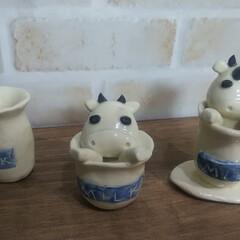 オーダーメイド/花器/北欧風/丑/Handmade/干支の置物/... 来年の干支(丑)  新作北欧風の切立鉢 …