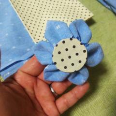 畳縁バッグ/つまみ細工/プレゼント/リース/マスク/Handmade こんばんは🎵 数日ぶりです。 部署の移動…(7枚目)
