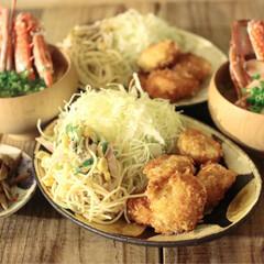 おうちカフェ/夕飯/晩御飯/ホタテフライ/おうち/ごはん/... Today's dinner 2019.…(1枚目)