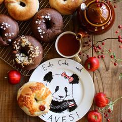 BAGEL/ベーグル/手作りパン/グルメ/フード/おうちごはん/... 昨日の飲み会に持参したベーグルでおはよう…