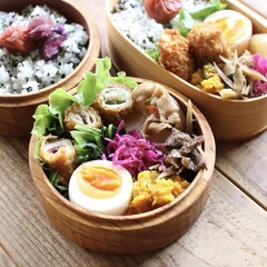 lunch/ランチボックス/ランチ/わっぱ/わっぱ弁当/曲げわっぱ/... 今日のお弁当