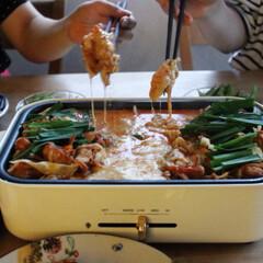 従姉妹/夕飯/ブルーノ/BRUNO/ホットプレート/グルメ/... チーズタッカルビ(1枚目)