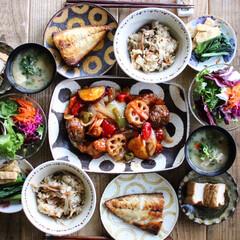 酢鶏/夕飯/市岡泰/晩御飯/秋/おうちごはん/... 今日の晩御飯  酢鶏 厚揚げ煮 小松菜と…