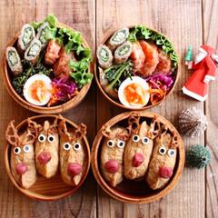 トナカイいなり/高校生弁当/女子高生弁当/お弁当/クリスマスツリー/グルメ/... Today's lunch 2018.1…(1枚目)