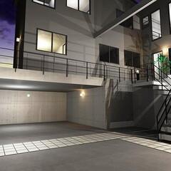 滋賀県大津市/二世帯住宅/注文住宅/ガレージハウス/高低差の土地/石垣 高低差約2mの古い石積擁壁を撤去後、RC…(1枚目)