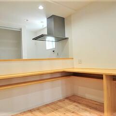 対面キッチン/造り付け/カウンター 対面キッチンにL片カウンターを造り付け・…