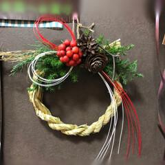 令和お正月/しめ縄リース/ハンドメイド 藁から編んでしめ縄作り❣️ フレッシュで…