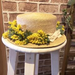 ミモザアレンジ/ミモザ/ハンドメイド/春の一枚 庭のミモザの花もこれで終わり🌼🌼🌼 今年…
