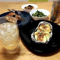 夏コーデ/夏インテリア/ファッション/インテリア/グルメ/フード/... ズッキーニのオーブンチーズ焼き🧀ハーブ鶏…