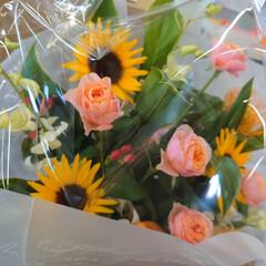 ドライフラワー やめるとき仲間から 花束をいただきました…