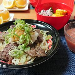つや姫/美生柑/ミスジ/焼き肉丼/ごはんメモ/トマトスープ/... 今夜のごはん📝 *焼き肉丼 *トマトのす…(1枚目)