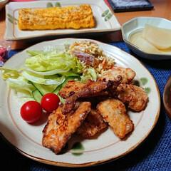 鶏むね肉/鶏むね肉を柔らかく/真穴みかん/マカロニサラダ/唐揚げ/つや姫/... 今夜のごはん📝 *唐揚げ *マカロニサラ…