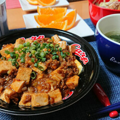つや姫/豆豉/中華/中華定食/食器/カトラリー/... 今夜のごはん📝 *天津麻婆豆腐丼 *キャ…(1枚目)