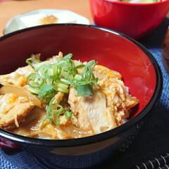 親子丼/阿波尾鶏/つや姫/ごはんメモ 今夜のごはん📝 阿波尾鶏の親子丼🥚 大根…(1枚目)