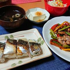 松茸の味お吸い物/茶そば/つや姫/焼き鯖寿司/おうちごはん/おうちご飯/... 今日のごはん📝 (お昼) *茶そば *牛…