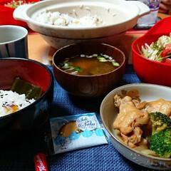 さっぱり煮/さつま芋ごはん/土鍋ごはん/つや姫/ごはんメモ/おうちごはん 今夜のごはん📝 *土鍋でさつま芋ごはん🍠…