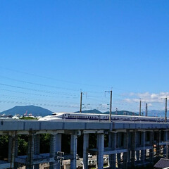 青空/新幹線 お気に入りの新幹線ビューポイントから📷