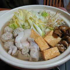 ヤマキ 割烹白だし1000ml ×2本(だし、ブイヨン、がらスープ)を使ったクチコミ「今夜のごはん📝 *しょうがたっぷり鶏鍋 …」