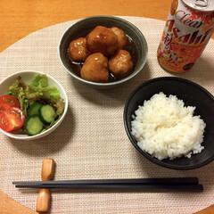 ビール/肉団子/夕飯/おうちごはん 我が家の定番、巨大肉団子♡ アサヒ秋の宴…