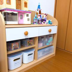 子供部屋/おもちゃ収納/無印良品/収納 無印良品アイテムを使ったおもちゃ収納です…