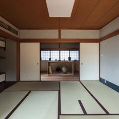 和室/和モダン/和風/日本建築/リフォーム/リノベーション/... 和室からギャラリーを見る。