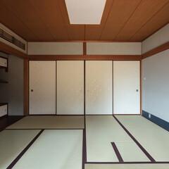 和室/和風/和モダン/モダン/シンプル/ナチュラル/... 和室の襖紙はかみ添さんのオリジナルデザイ…