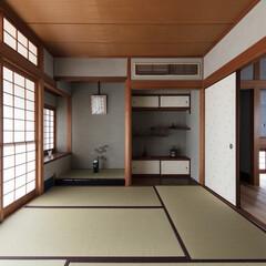 和室/和モダン/和風/床の間/茶室/リフォーム/... 6帖の和室。炉を切り、土壁や畳、建具を修…
