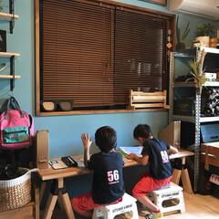 リノベーション/子ども部屋/ソーホースブラケット/DIY/インテリア/家具/... こんばんは(♡ˊ艸ˋ♡) ずっと作りたか…